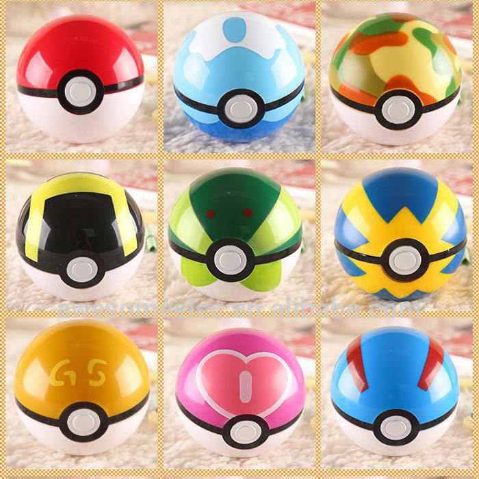 (Gift Set) Pokemon Gaan Poke ball, Pikachu Pokeball speelgoed, 7 cm pokemon Pokeball Poppen