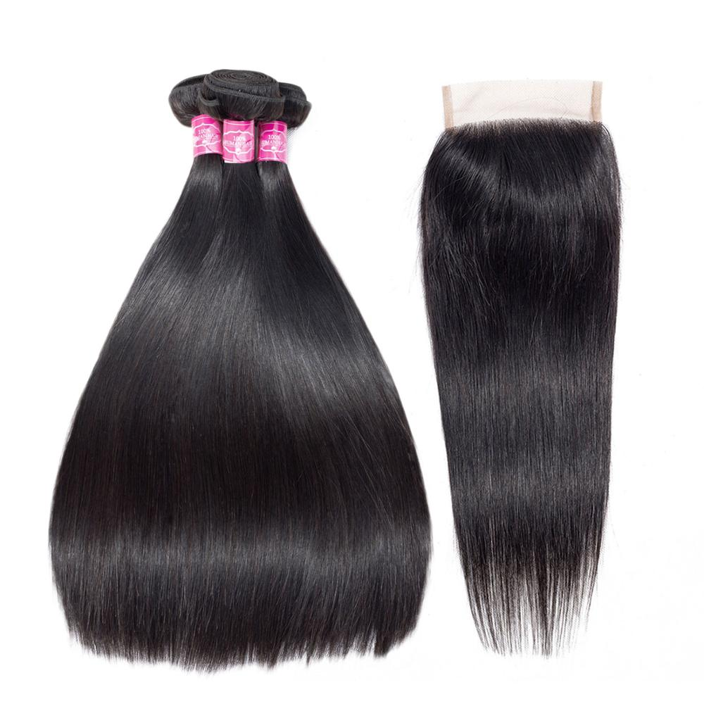 Free Shipping Cheap Price Straight Brazilian Hair Straight Body Bundles With Closure фото