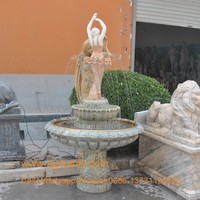 Marble carving indoor water fountain