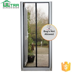 Magnetic strip door curtain dust proof fly screen mesh