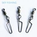 30pcs bag Swivel MS HX Rolling Swivel with Coastlock Snap Size8 6 4 2 Hook Lure