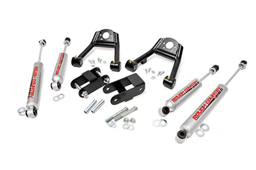 Rough Country - 805N2 - 1.5-2-inch Suspension Leveling Lift Kit w/ Premium N2.0 Shocks for Nissan: 86.5-97 D21 Hardbody Pickup 4WD