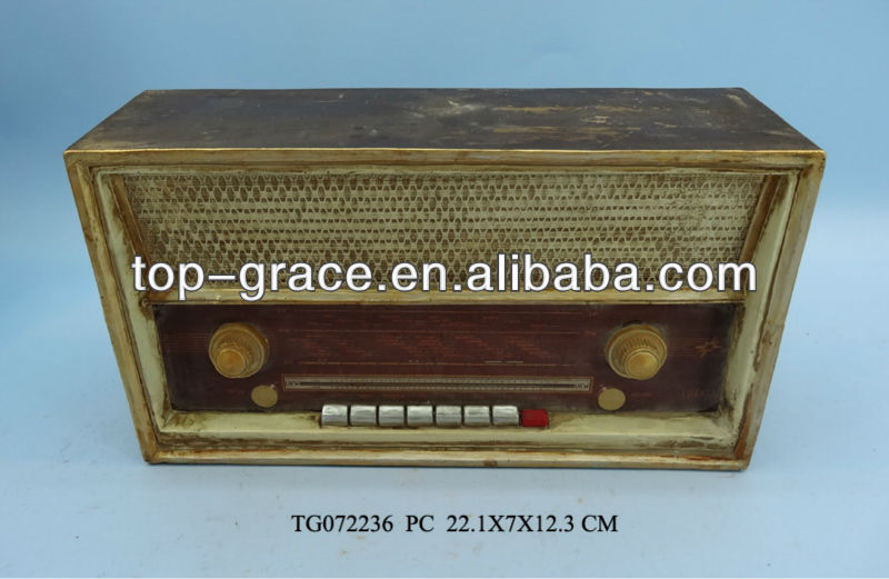 Resin crafts radio antique gifts for home decor