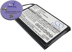 vintrons (TM) Bundle - 1000mAh Replacement Battery For GARMIN IA3Y117F2, + vintrons Coaster
