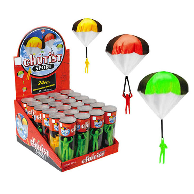 Promotional mini play parachute toy with doll chutist for <strong>kids</strong>