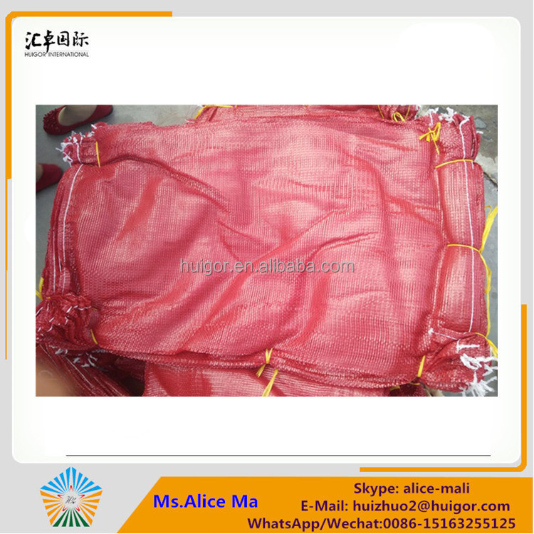 cheap new products packaging lemon mesh bags for fruits onions