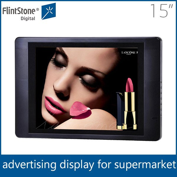 "Flintstone 15 inch lcd digital mp4 player lcd ad player 15"" lcd tv screen"