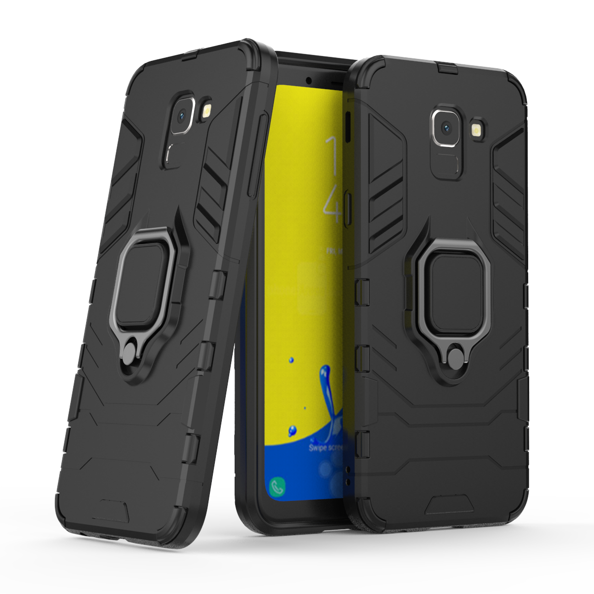 Ring Holder Bracket Magnet Armor Case For Samsung Galaxy J6 2018