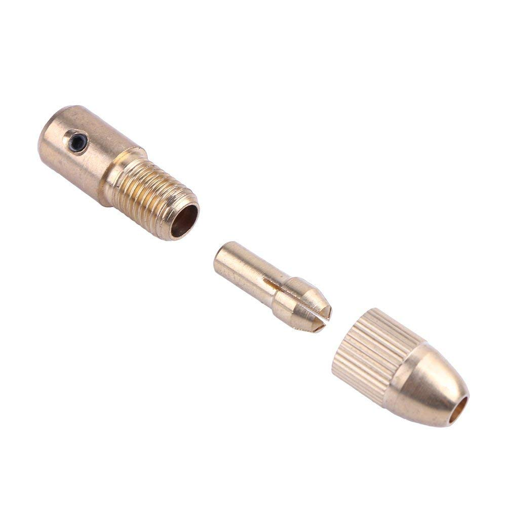 Matefield 2.3mm Micro Drill Bit Clamp Fixture Brass Electric Motor Shaft Chuck