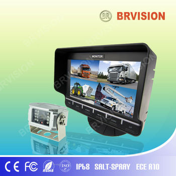 "New 7"" quad digital monitor system with built-in GPS Navigation"