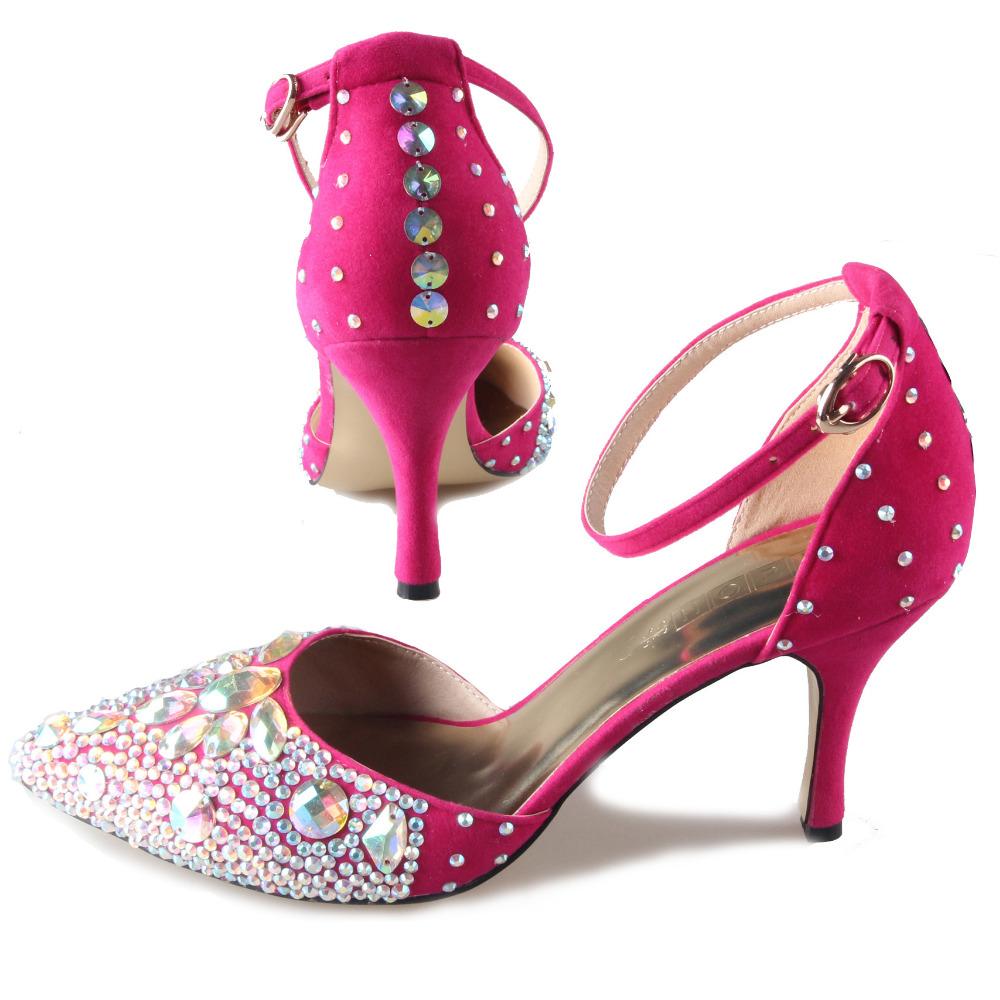 6fca42088401 Hot Pink Bling Heels - Heels Zone