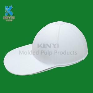 Eco friendly molded pulp disposable tour group ordered DIY paper caps