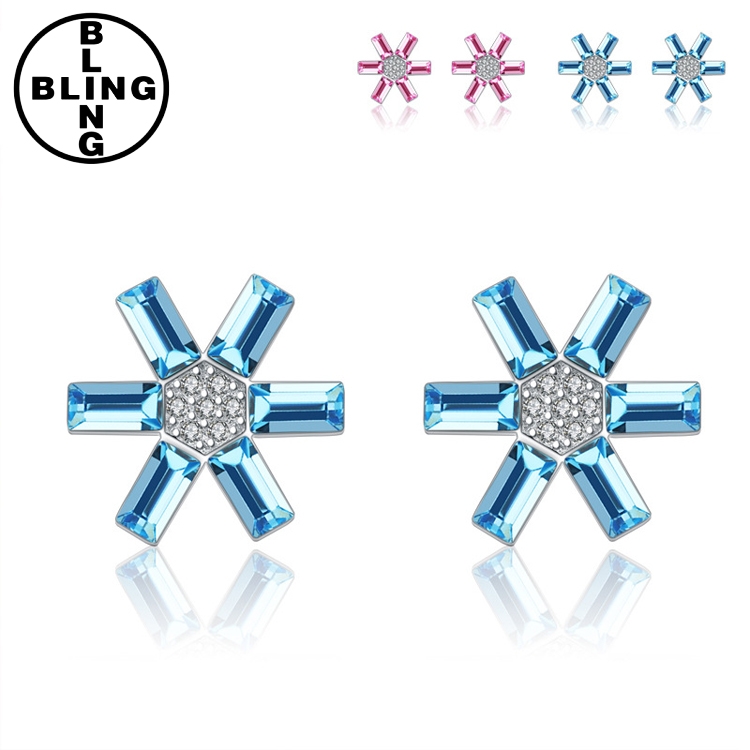 >>>Wholesale sterling silver Korea style 925 sun silver stud earring with cz/