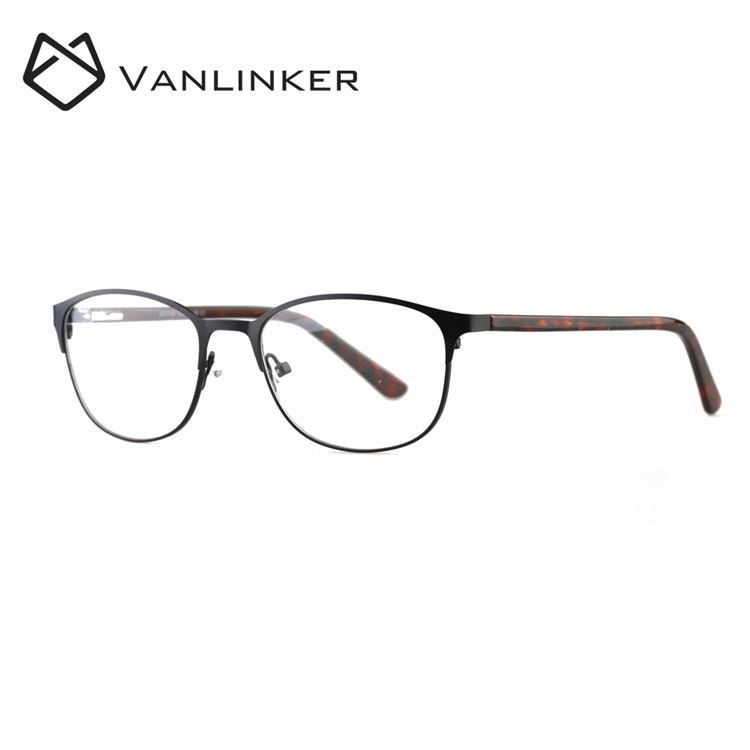 Good Quality Metal Eye Glass Customized Round Shaped Retro Optical Frames With Flexible Nose Pads