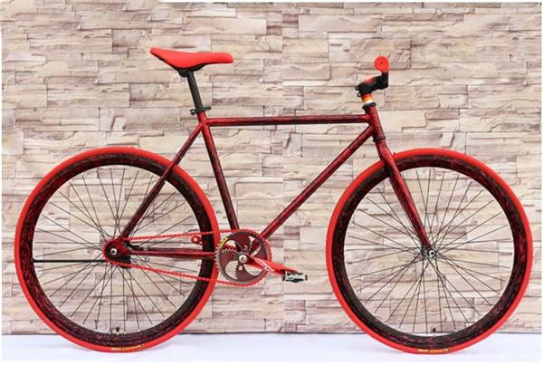 700c Neon Black And Red Fixie Gear Bikefixie Bike Buy 700c Neon