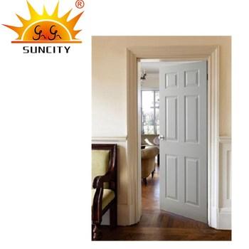 Sc W137 House Cherry Wood Interior Door Soft Closemexican 6 Panel