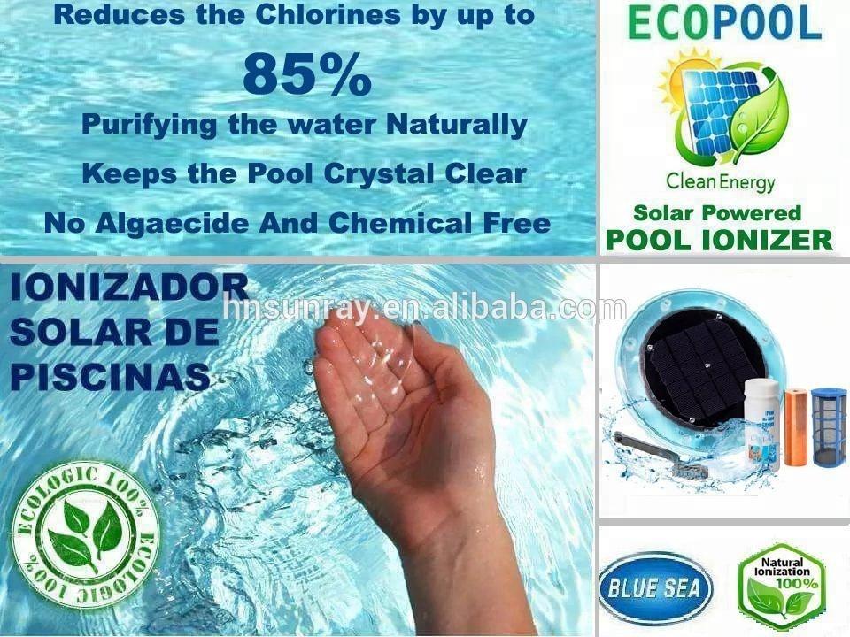 Solar Swimming Pool Ionizer Cleaner Ionizador Solar