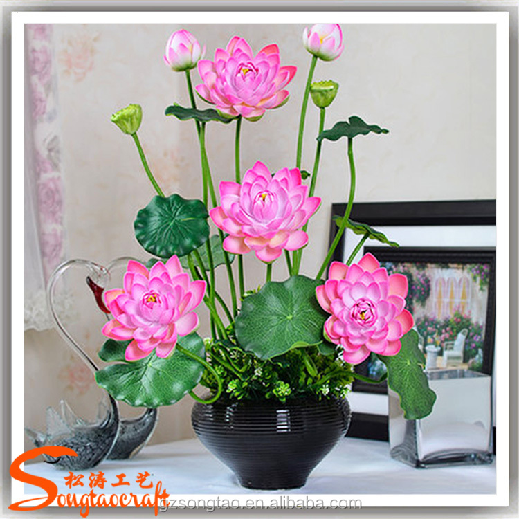 2017 New Type Artificial Lotus Flower Real Touch Decorative Fresh