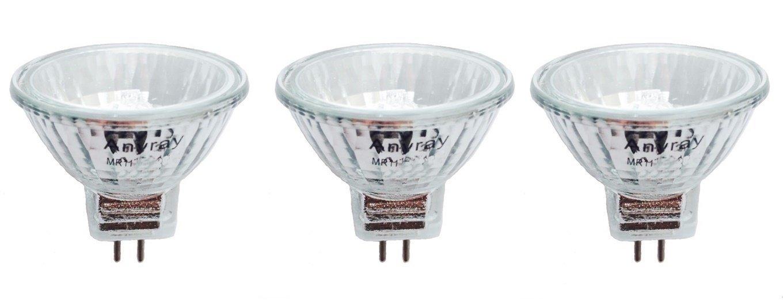 Anyray A1869Y (3-lamps) 20W MR11+C BAB Halogen Flood Light Bulbs 12V Lamp 20 Watt