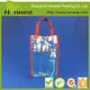 hot sale on line 2016 pvc handle bag plastic shopping bag with button closure