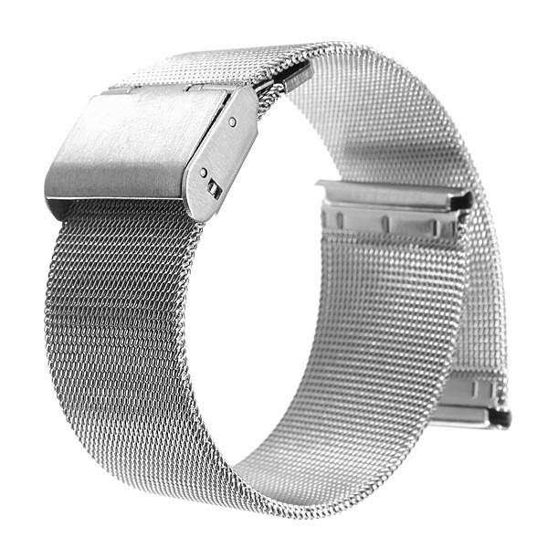 Новое высокое качество серебро 18 мм 20 мм 22 мм 24 мм часы из нержавеющей стали сетка браслеты ремни замена группа