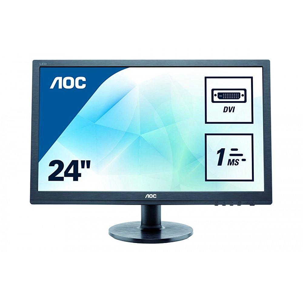Aoc Monitors E2460SD TFT Active Matrix LED Monitor, 24 in.