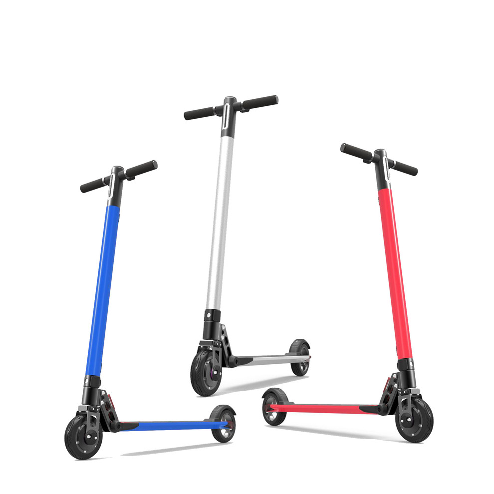 2019 Wholesale cheap 6inch 36V 250W 30KM 2 wheel Foldable electric scooter with front & rear suspension For Adults, Customized