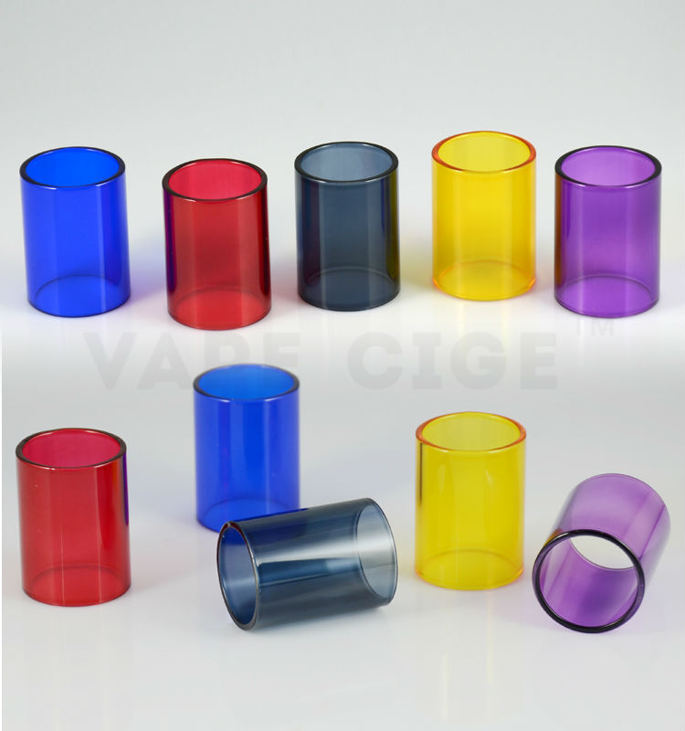 wholesale subtank mini glass tube with many colors subtank mini bell cap