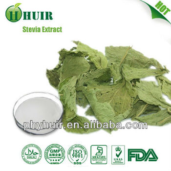 GMP Natural Stevia extract Rebaudioside A 98% high quality