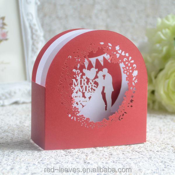 New Design Laser Cut Handmade 3d Pop Up Wedding Anniversary Greeting