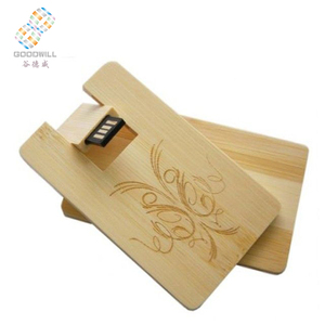 Bulk Cheap Wood Credit Cards Usb 1gb 2gb engraved logo