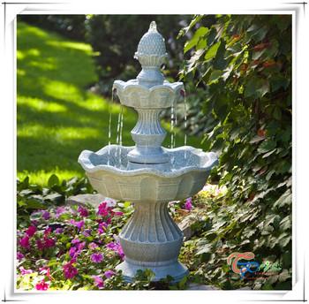 Belle Décoration Extérieure Résine Italien 2 Niveau Jardin Fontaine ...