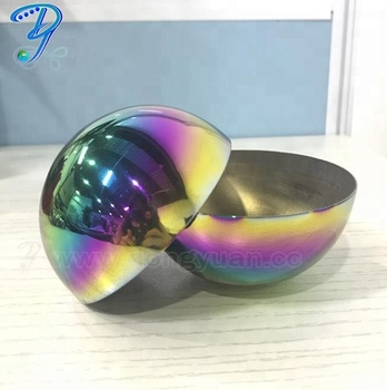 51mm ,63mm,76mm Rainbow Color Stainless Steel  Bath Bombs Molds Gift Sets