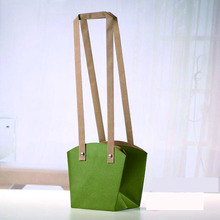 Customized Pot Plants Kraft Flower Carrier Paper Bag with Grommet Handles