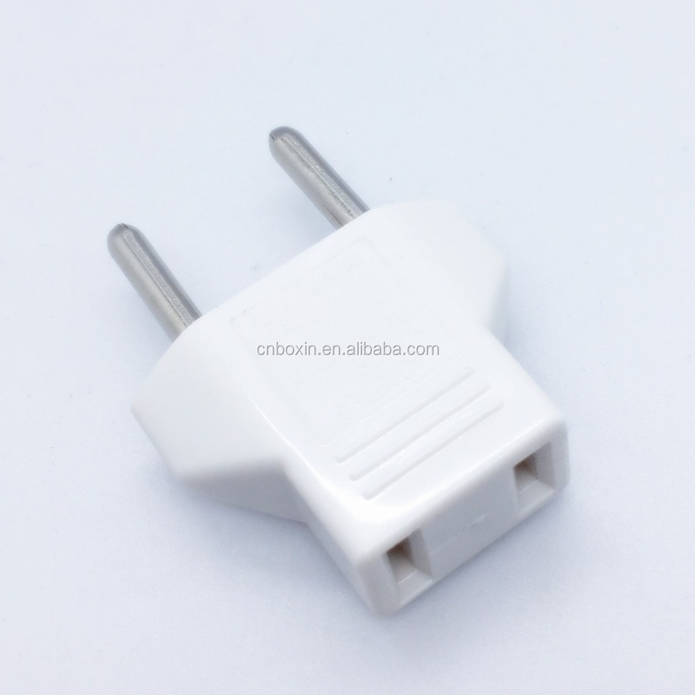 Hot wholesale 2 pin Top quality trave plug 110v to 220v plug adapter CE us to eu plug converter