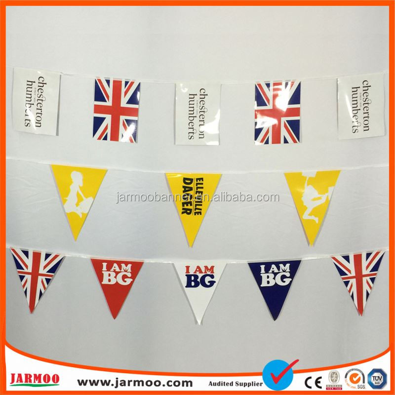 Activity Used Digital Printing Many Colors Advertising Bunting Flag