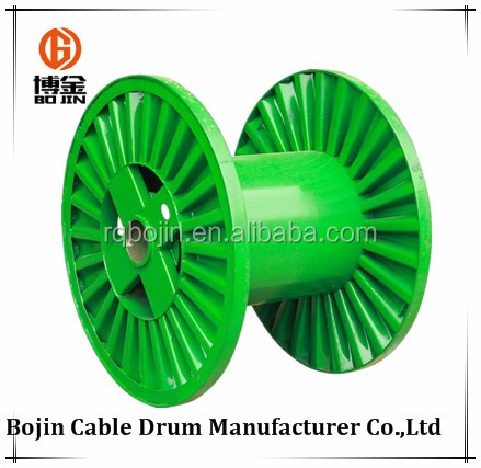 Corrugated collapsible steel cable drum