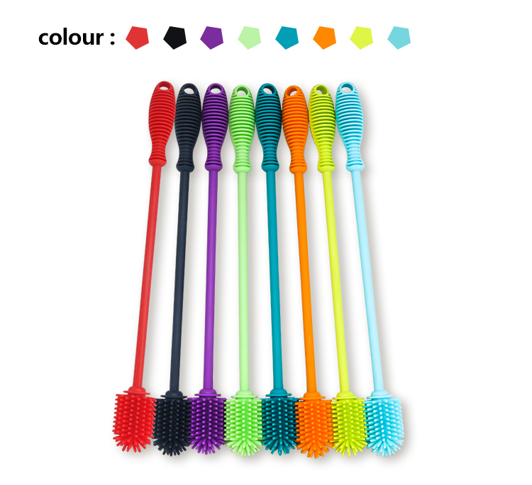 Arrival Manual Wholesale Silicone Baby Bottle Cleaning Brush for Baby Milk Bottle