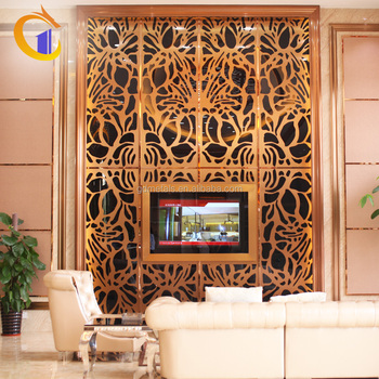 Stainless Steel Modern Home Living Room Interior Art Decor Tv Background Wall Panel Design .