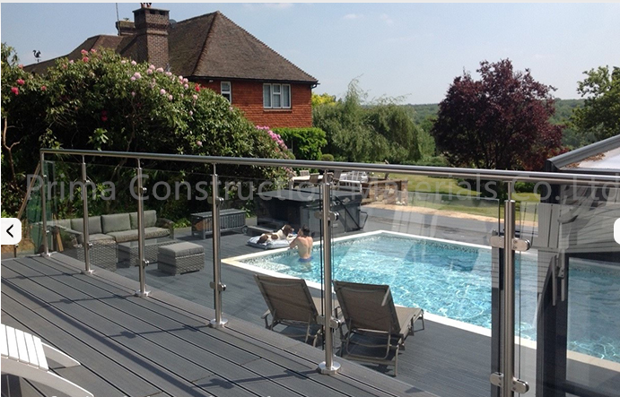 Modern Roof Deck Railing Design Stainless Steel Gl Balustrade - Buy on