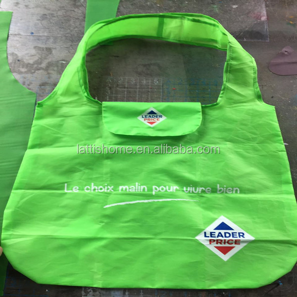 wholesale custom cheap polyester/calico foldable Shopping Bag/folding shopping bag