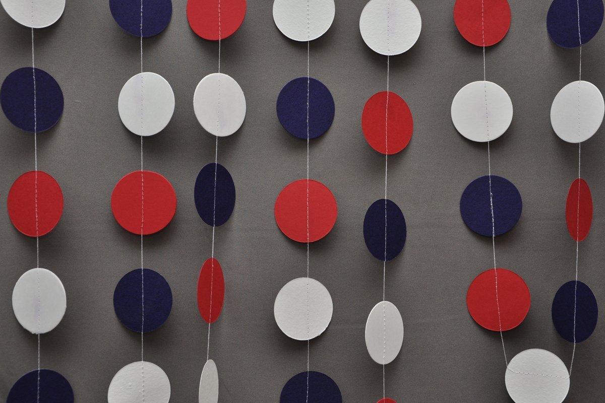 Patriotic Decor Blue Red White Baby Shower Wedding Birthday DecorationBirthday