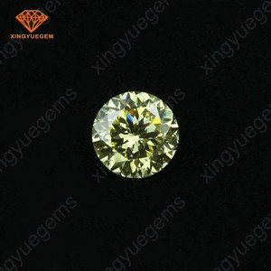 Wholesale china light yellow aaaaa cubic zirconia round cz stone for jewelry