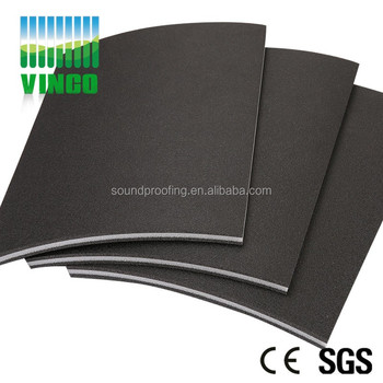 Thick 11mm Soundproofing Shock Damping Flooring Mats Using Carpet