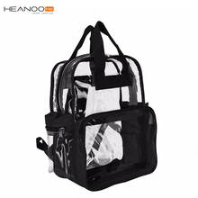 Backpack Clear School Bag Transparent New See Plastic Travel Security PVC Black Bag