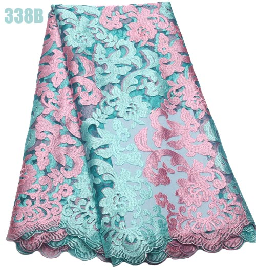 New style Popular Multi color french yarn embroidery lace for party dresses
