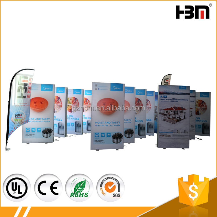 Indoor double sided led poster light box, led frameless fabric light box,aluminum profile show box