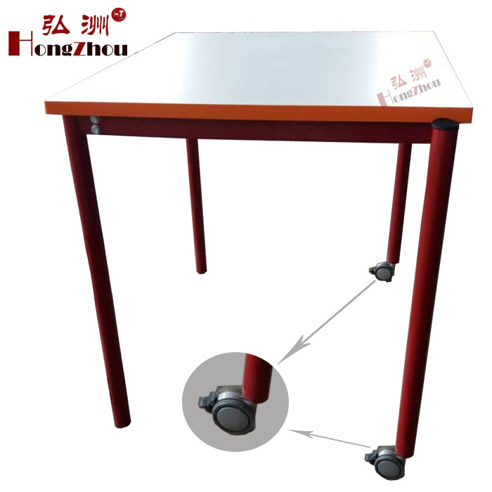 Affordable School Furniture Child Table Classroom Furniture Wooden Desk Set with Wheel
