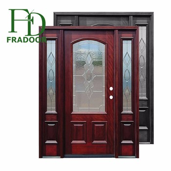 European Country Style Swing Interior Door With Side Lite And