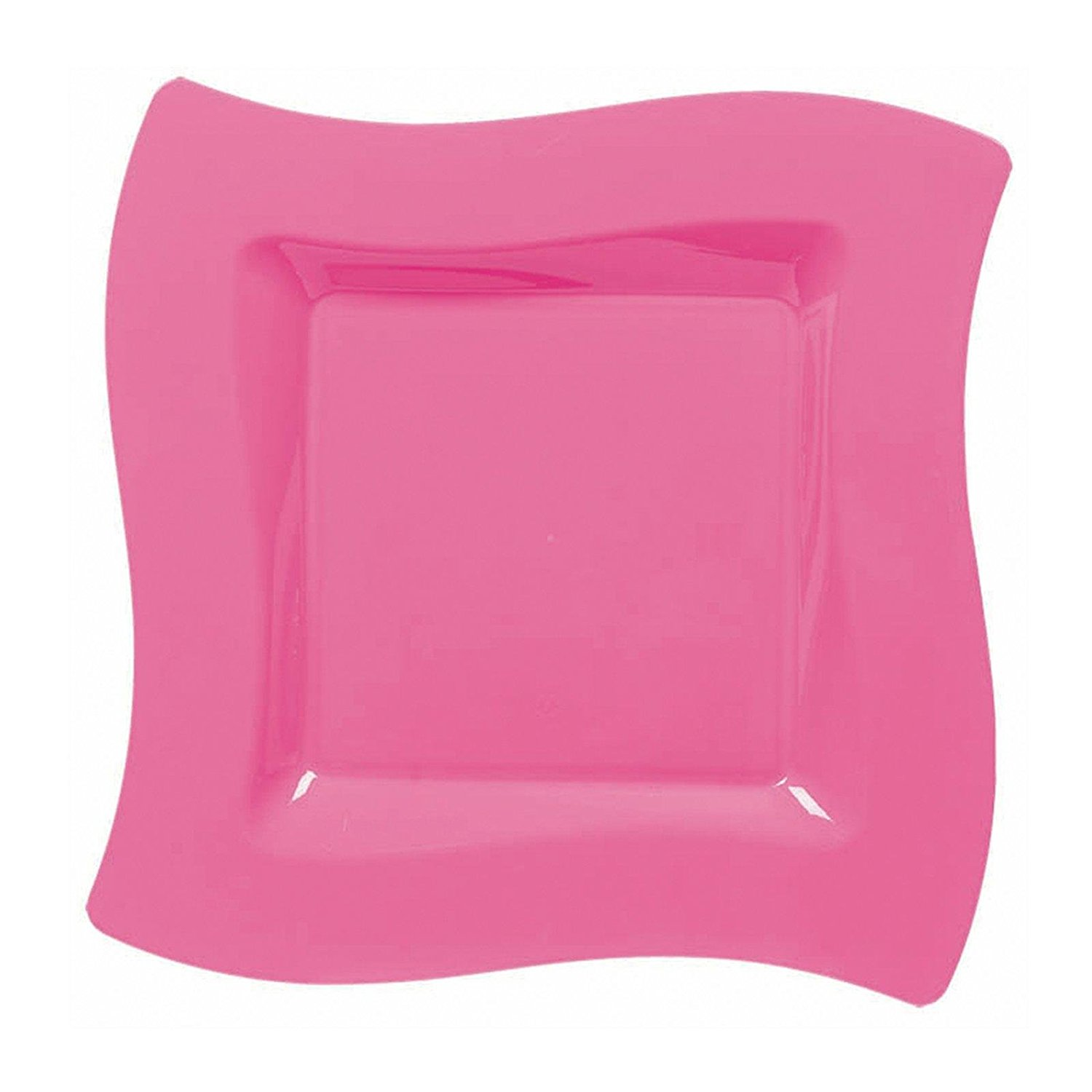 Get Quotations · Amscan Hot Pink Wavy Square Plastic Dessert Plates  sc 1 st  Alibaba & Cheap Pink Square Plastic Plates find Pink Square Plastic Plates ...